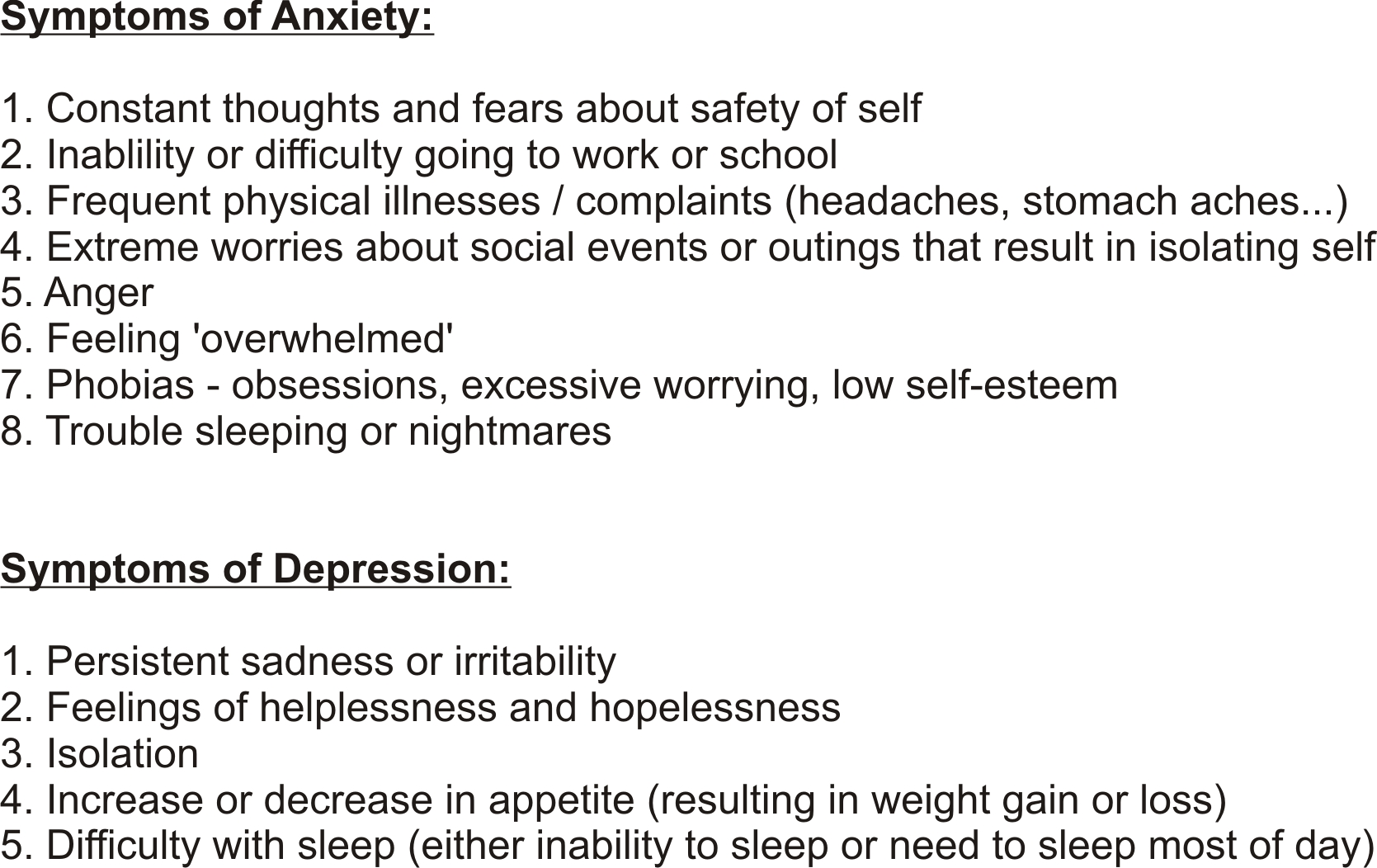 Anxiety And Depression Quotes Insurance Information